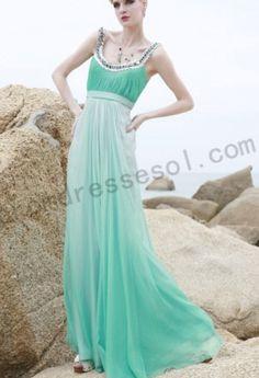 Sea green prom dress