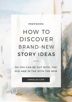 With NaNoWriMo around the corner, it's time to start discovering new story ideas. Read on to see my favorite places to find new ideas