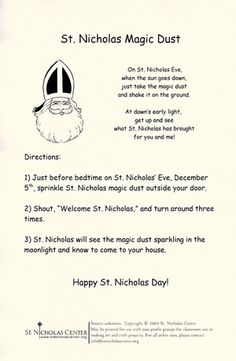 Printable sheet for St. Nicholas day how cool! May need to add this to our traditions