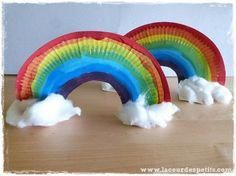 Rainbow DIY for the little ones Fun Crafts For Kids, Diy For Kids, Diy And Crafts, Arts And Crafts, Rainbow Diy, Rainbow Theme, Rainbow Crafts, Nanny Activities, Little Ones