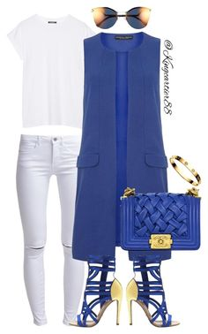 """BLUE CRUSH"" by jusgram88 ❤ liked on Polyvore featuring ONLY, Balmain, Dorothy Perkins, Fendi and Chanel"