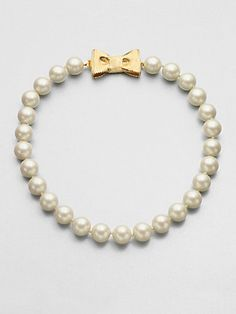 Kate Spade New York - Bow Accented Beaded Strand Necklace