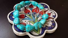 Natural Turquoise Bracelet by HandsCraft on Etsy