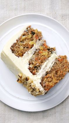 Carrot Cake- Recipe with video instructions: Who would've guessed pineapple, applesauce and carrots could be part of such a satisfyingly sweet dessert? Ingredients: For the carrot cake:, 3 cups all-purpose. Carrot Recipes, Cake Recipes, Dessert Recipes, Dessert Cups, Sweet Desserts, Sweet Recipes, Classic Carrot Cake Recipe, Ultimate Carrot Cake Recipe, Recipe For Carrot Pineapple Cake