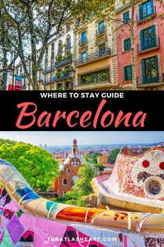 Where stay in Barcelona! A complete guide to the best neighborhoods, things to do, and the best accommodation options no matter what your budget is. Barcelona Travel Guide, Barcelona Hotels, Barcelona Spain, Beach Cafe, Slow Travel, Park Hotel, Rooftop Bar, City Break, Spain Travel