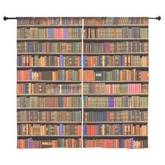 A curtain set that will make your room look like a library: