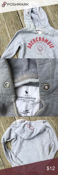 Abercrombie Gray Hoodie Super cute kids XL will fit as a ladies xs or s. EUC. Abercrombie & Fitch Tops Sweatshirts & Hoodies
