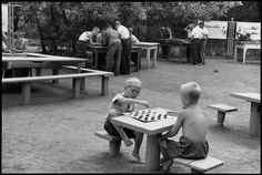 SOVIET UNION. Moscow. Gorky Park of Culture and Rest. 1954. by Henri Cartier-Bresson