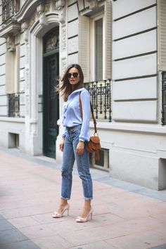 blue top looks - Lady Addict