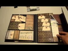 FOLIO * Special Delivery Photo folio decorated with photos - YouTube Idea-ology Collection Folio Tim Holtz