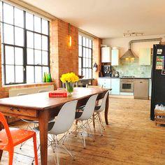 East London interior - practical, warm, spacious, colourful, utilitarian