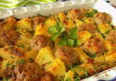 Zapečené • mleté kuličky s bramborami a smetanou Gnocchi, Ground Meat Recipes, Ratatouille, Quiche, Vegetarian Recipes, Food And Drink, Treats, Chicken, Vegetables