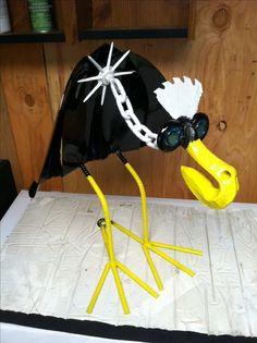 Dodo bird Shovel, yard art decoration metal art