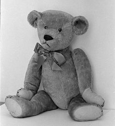 THE Original Teddy Bear.  Named for (my FAVORITE President) President Theodore Roosevelt after he refused to shoot a bear cub way back in 1902.  The teddy bear was known as Roosevelt's alter ego after a political cartoon depicted him with the little bear cub.