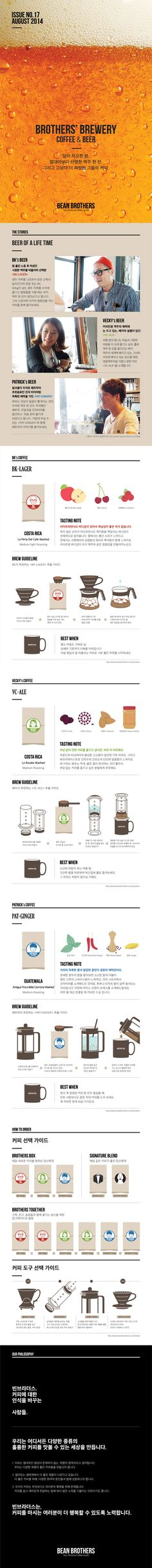 BEAN BROTHERS AUGUST BOX / 빈브라더스 8월의 커피박스 / BROTHERS' BREWERY - Coffee & Beer / Coffee Subscription / Editorial Design / www.beanbrothers.co.kr
