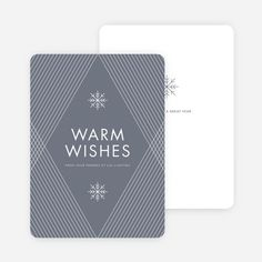 Diagonal Pattern Corporate Holiday Cards - Gray