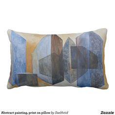 Abstract painting, print on pillow