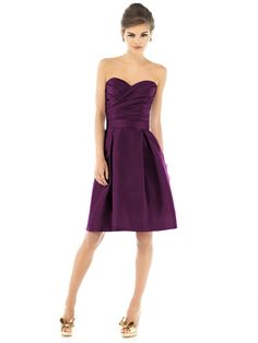 Alfred Sung, Style D538.  Shown in Italian Plum.