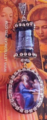 Catholic St. Cecilia Cameo Locket Shrine Religious Pendant | eBay www.letyscreations.com