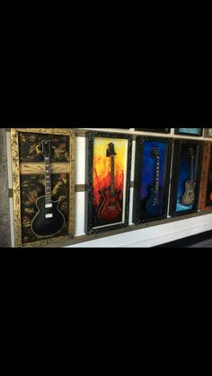 Guitar Display Case, Display Cases, Made Of Wood, Shadow Box, Home Decor, Cabinets, Decoration Home, Display Cabinets, Room Decor