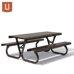 """62"""" width - Wabash Valley Portage Collection 6' or 8' Picnic Table - Portable"""