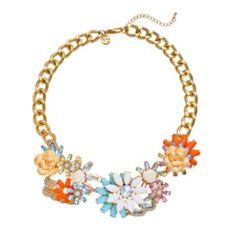 GS by gemma simone Fresh Cut Flower Collection Bib Necklace