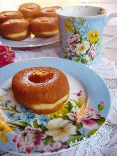Gabriella kalandjai a konyhában :): Szalagos fánk egyszerűbben Bagel, Doughnut, Bread, Cookies, Food, France, Biscuits, Essen, Breads