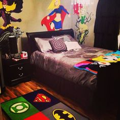 girl superhero bedroom | My superhero room for girls!