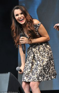 Joyous: Earlier in the day Samantha performed at West End Live, the annual gathering in Tr...