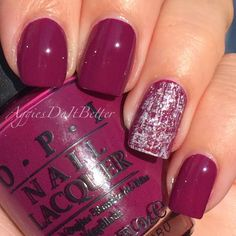 Aggie Nails: dry brush nails with OPI Casino Royale, by Aggies Do It Better