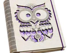 Cuaderno de cubierta de madera personalizado 'la vida por ZabavaBox