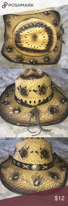 Straw Western Style Drifter Hat Fun Cowboy style drifter hat 🤠! A great style and perfect accessory for your next country concert, tailgate, or day at the lake! Western Express Accessories Hats