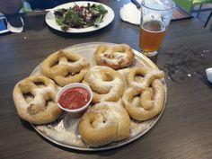 Mellow Mushroom - South Miami, FL, United States. Garlic parmesan pretzels