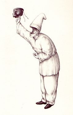 Last of eight images scanned from Serafini's 'Pulcinellopedia'.