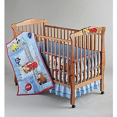 Disney -Boys Cars Little Racer Five-Piece Baby Crib Bedding Set
