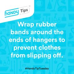 #HandyTipTuesday: Hack your hangers instead of buying specialty ones to keep your clothes from piling up on your closet floor! (8/4/15)