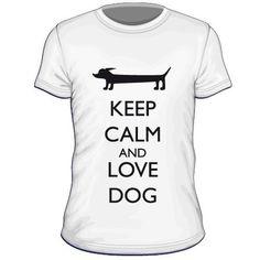 Maglietta personalizzata Keep Calm and Love Dog