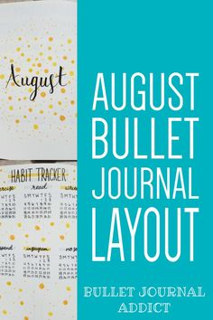 Pretty and Simple Bullet Journal Spreads - Bullet Journal Yellow Dot Theme - August Bullet Journal Layout With Simple Design #monthlyspread #bujo #bujolove #bujomonthly #monthlybujo #bujospreads #bulletjournal #bulletjournalcommunity #bujocommunity #bujoideas #bujoinspiration #bujoinspo Bullet Journal August, Bullet Journal Monthly Spread, Bullet Journal Themes, Bullet Journal Layout, Bullet Journal Inspiration, Journal Ideas, Doodle Art For Beginners, Just Keep Going, Brain Dump