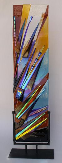 Fused Art-Glass Panel by artist Suzanne Spalding via her site 'SuzanneSpaldingGlassArt' ♥༺❤༻♥