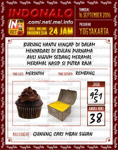Wangsit Togel Wap Online Live Draw 4D Indonalo Yogyakarta 16 September 2016