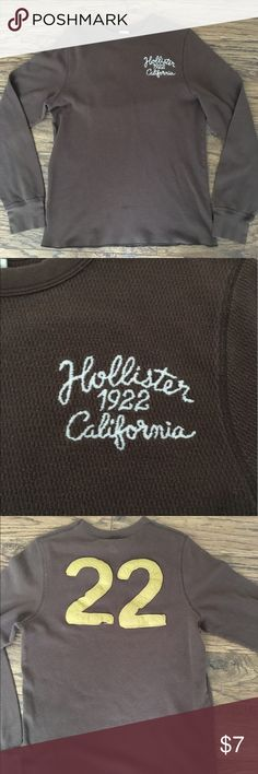 Hollister long sleeve Brown knit - thermal like Hollister Shirts Tees - Long Sleeve