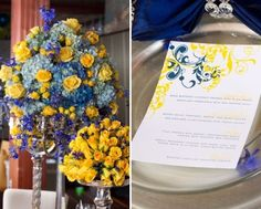 Flowers - blue and yellow