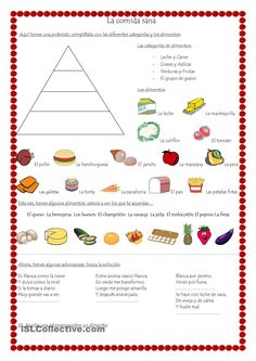 material didactico para primaria Spanish Worksheets, Science Worksheets, Spanish Activities, Vocabulary Activities, High School Spanish, Spanish 1, Spanish Teacher, Spanish Classroom, Spanish Food