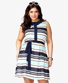 Colorblocked Chiffon Dress | FOREVER21 PLUS, $28