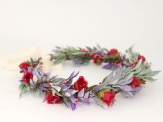 Hair Flowers – ♥ Flower head wreath ♥ Floral crown ♥  Headpiece   – a unique product by LolaWhite on DaWanda