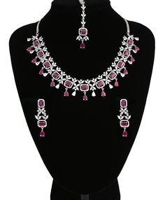 Wedding Jewellery Designs, Wedding Jewelry, Jewelry Design, Bridal Necklace, Necklace Set, Necklace Lengths, Indian Jewelry Sets, South Indian Jewellery, American Diamond Jewellery