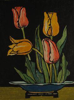 William Seltzer Rice (1873-1963) - Tulips, 1925