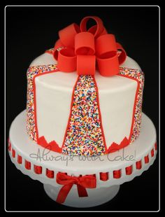 Birthday Cake For A 14 Year Old Girl She Loves Sprinkles And This Is