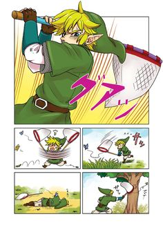 Link vs. The Bugs. The greatest battle of all time.