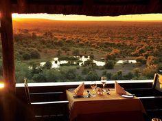 Opened in 1994, Victoria Falls Safari Lodge is like a multi-level, open-plan tree house.